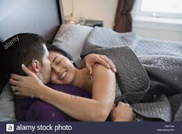 Kiss In Bed Couple Kissing In Bed Stock Photos U0026 Couple Kissing In Bed Stock