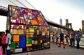 streets tom fruin u0027s stained glass house brooklyn bridge park