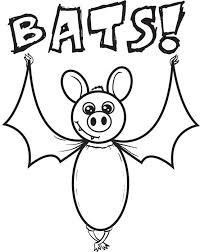 free printable cartoon bat halloween coloring page for kids 3