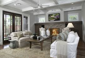 craftsman style home design with coffered ceiling coffee stained