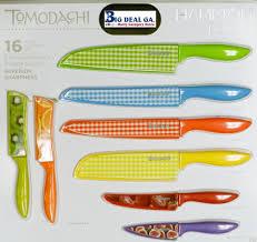hampton forge tomodachi print cutlery set 16 pc w color