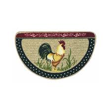 Rooster Rugs For The Kitchen Amazon Com Bacova Guild 36984 A Doodle Doo Berber Kitchen