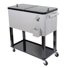 Trinity Stainless Steel Cooler by Amazon Com Upha 80 Quart Rolling Ice Chest Portable Party Bar
