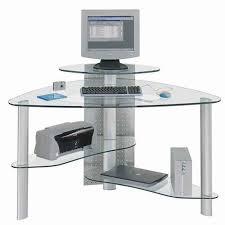 Glass Corner Computer Desks For Home Lovable Glass Computer Desk Corner Small L Shaped Desk Best Small