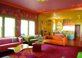 living room yellow paint house decor picture