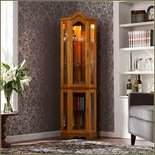 lighted curio cabinet oak lighted curio cabinet oak home design ideas