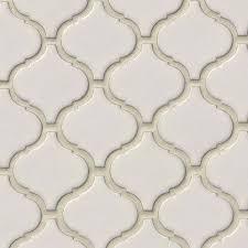 Arabesque Backsplash Tile by Bianco Arabesque 6mm Mosaics