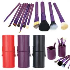 Professional Makeup Tools 12 Pcs Women Professional Makeup Brush Set Cup Holder Cosmetic