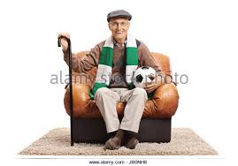 Armchair Supporter Elderly Football Fan Stock Photos U0026 Elderly Football Fan Stock