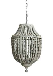 wood bead ceiling light beaded pendant light gray aged iron and wooden bead chandelier