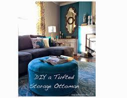 diy velvet tufted storage ottoman design by robin u0027s nest