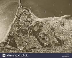 Presidio San Francisco Map by Historical Aerial Photograph Presidio Of San Francisco 1946 Stock