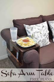 Sofa Arm Table by Diy Sofa Arm Table Remodelaholic Bloglovin U0027
