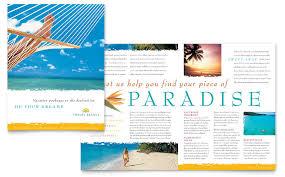 travel agency brochure template word u0026 publisher