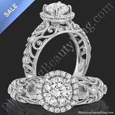 engagement rings sale images On sale la bella ornamental filigree diamond halo engagement jpg