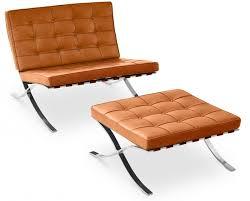 siege capitonné fauteuil avec ottoman capitonné cuir camel cubik lestendances fr