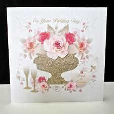pink rose display wedding card decorque cards