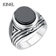 aliexpress buy 2015 new arrival mens ring fashion hot 2015 fashion vintage black rings men jewelry silver color big