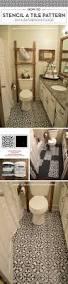 cutting edge stencils shares a diy stenciled linoleum floor