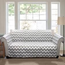 Grey Slipcover Sofa by Chevron Furniture Protectors Grey White Walmart Com