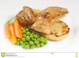Potatoes Main Dish - main course menu with chicken carrots beans and potato fresh