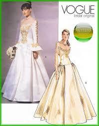 vogue wedding dress patterns vogue 2775 bridal renaissance wedding dress patterns costume
