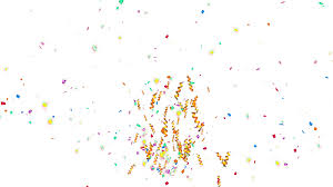 celebrate it 360 ribbon animation of shooting colorful confetti paper twisted ribbon and