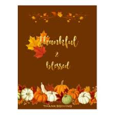 a blessed thanksgiving postcards zazzle