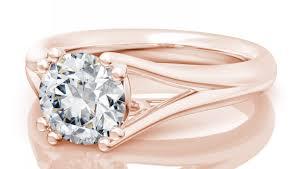 ring round trellis engagement ring in 14k yellow gold 4 4mm