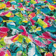 dressmaking fabric multicolor floral print rayon fabric home