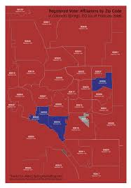 Zip Code Map Colorado by Political Leanings In Colorado Springs