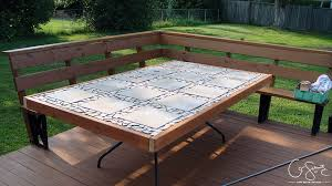 replace glass patio table top with wood diy outdoor tile table did your glass patio tabletop break and you
