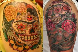 sugar skull tattoos designs ideas u0026 meaning of sugar skull