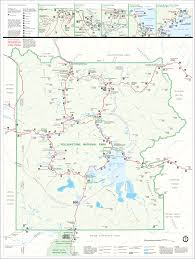 National Parks In Usa Map by Yellowstone Park Map National Park Guide