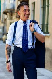 what hair styles suit braces let s discuss suspenders the sartorialist
