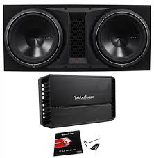 home theater subwoofer amp rockford fosgate p3 2x12 dual 12