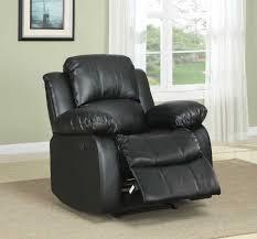 Black Leather Recliner Chair Homelegance Cranley Reclining Sofa Set Black Bonded Leather