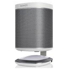 flexson illuminated charging stands for sonos play 1 pair white