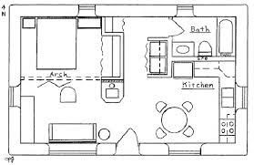 3 alternatives of one bedroom home plans