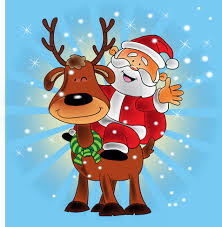 cute santa claus christmas background vector free vector in