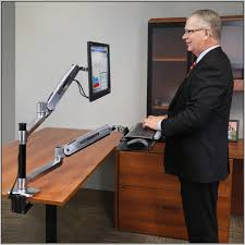 Lx Hd Sit Stand Desk Mount Lcd Arm by Ergotron Sit Stand Desk Mount Desk Home Design Ideas