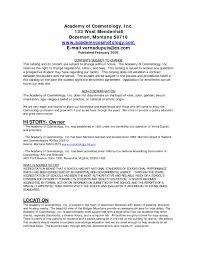 cosmetologist resume exles school resume sle resume