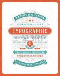 Design Invitations Retro Typographic Design Elements Template For Design Invitations