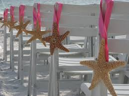 Starfish Decorations Ceremony Pew And Chair Decorations