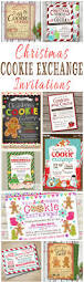 printable christmas party invitations 25 christmas cookie exchange party invitations christmas party
