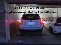 subaru forester tail light bulb led license plate bulbs installation for subaru forester youtube