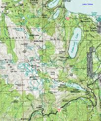 Topo Map Backpacking Topo Map Desolation Wilderness Lake Aloha To Echo