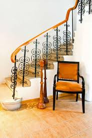 Antique Banister 35 Wrought Iron Stair Railing Ideas Photo Gallery