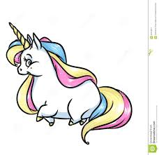 unicorn rainbow magic unicorn rainbow mane cartoon illustration stock illustration