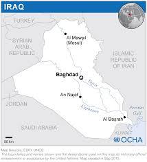 Iraq On World Map Iraq Reliefweb